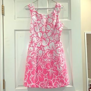 Pink and White Floral A-Line Lilly Pulitzer Dress